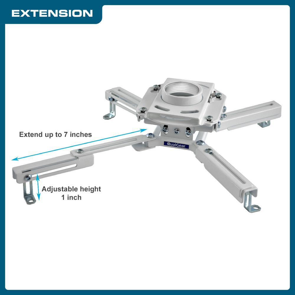 Qualgear Pro Av Projector Mount Kit With A Suspended Ceiling Adapter 3 In