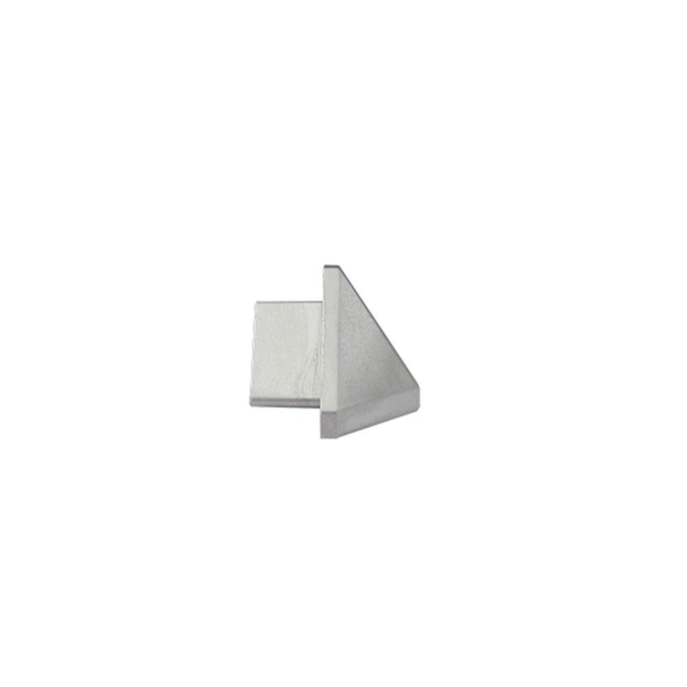 Emac Outside Angle Novobisel Matt Silver 3/8 in. Complement Aluminum Tile Edging Trim