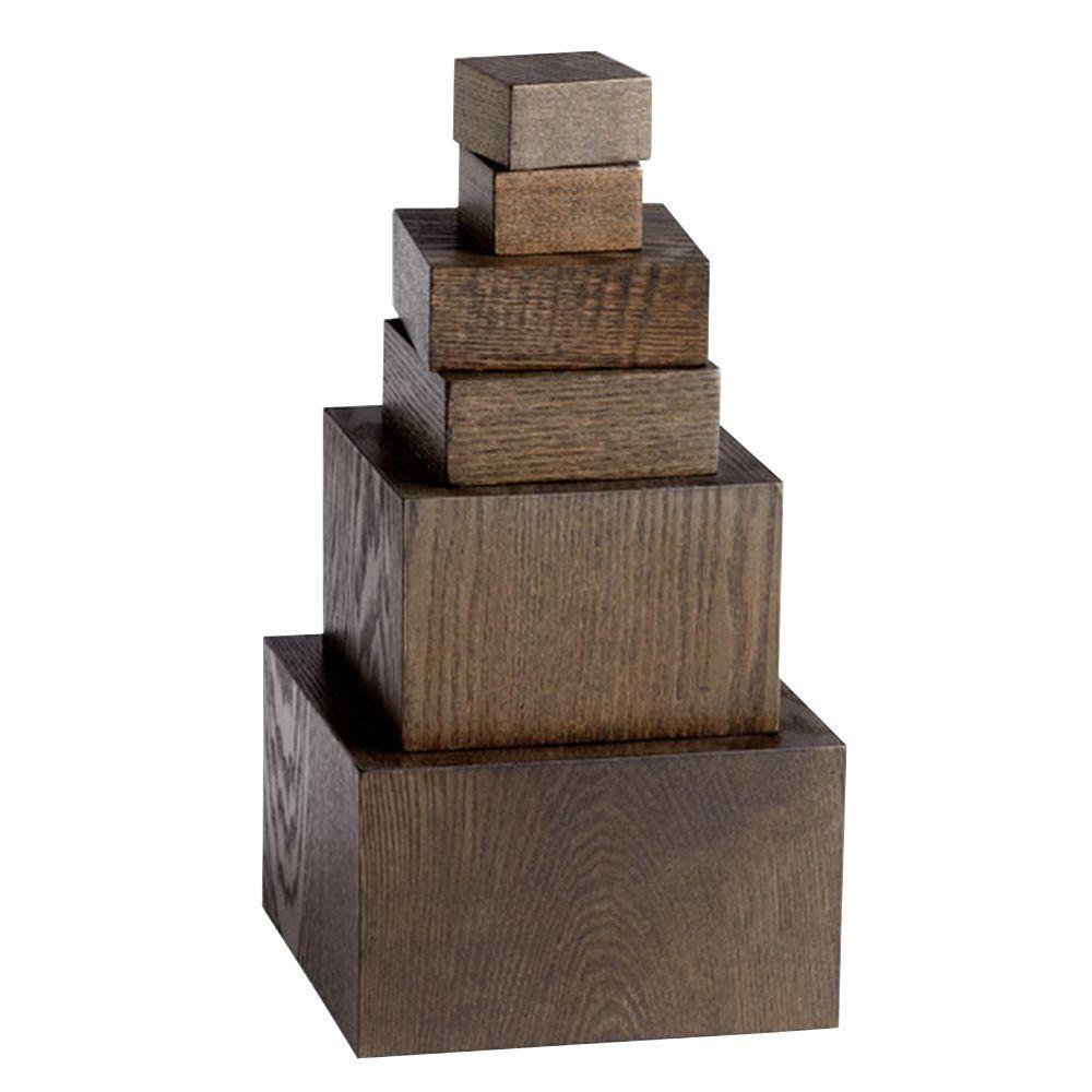 Prospect 5.5 in. Decorative Pedestals in Brown (Set of 6)
