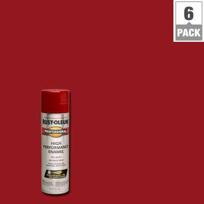 15 oz. High Performance Enamel Gloss Regal Red Spray Paint (6-Pack)