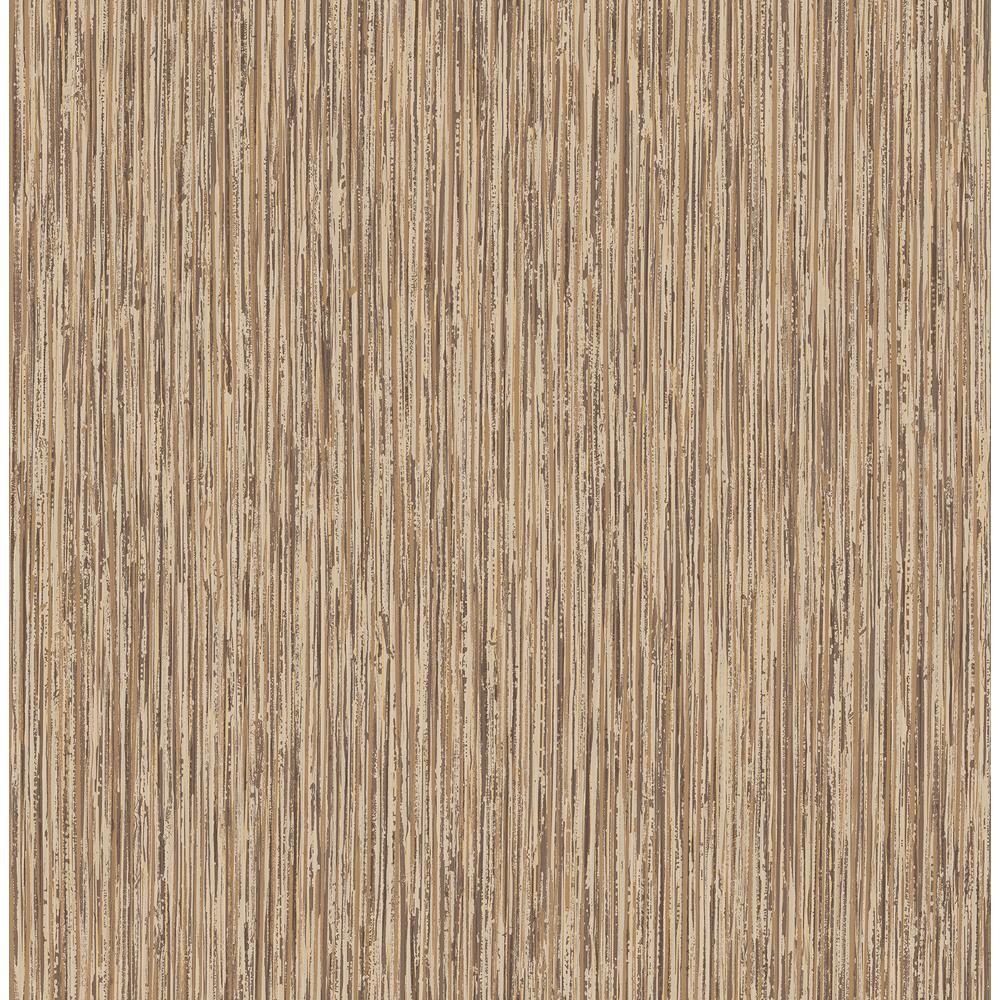 Kofi Brown Faux Grasscloth Wallpaper Sample