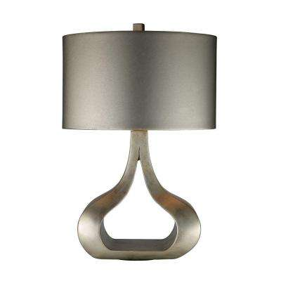 High Quality Silver Leaf Table Lamp With Metallic Silver Shade