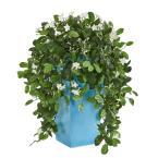 28 in. Indoor Stephanotis Artificial Plant in Turquoise Planter