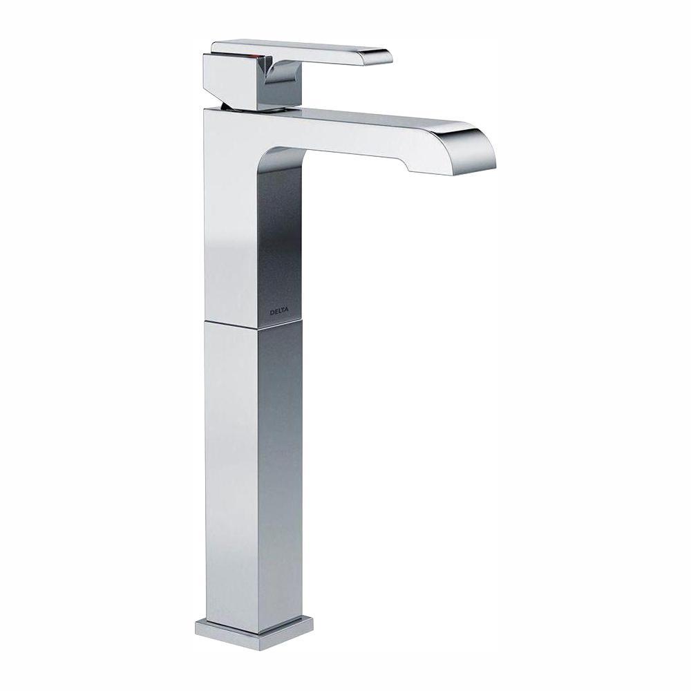 Delta Ara Single Hole Single-Handle Vessel Bathroom Faucet in Chrome