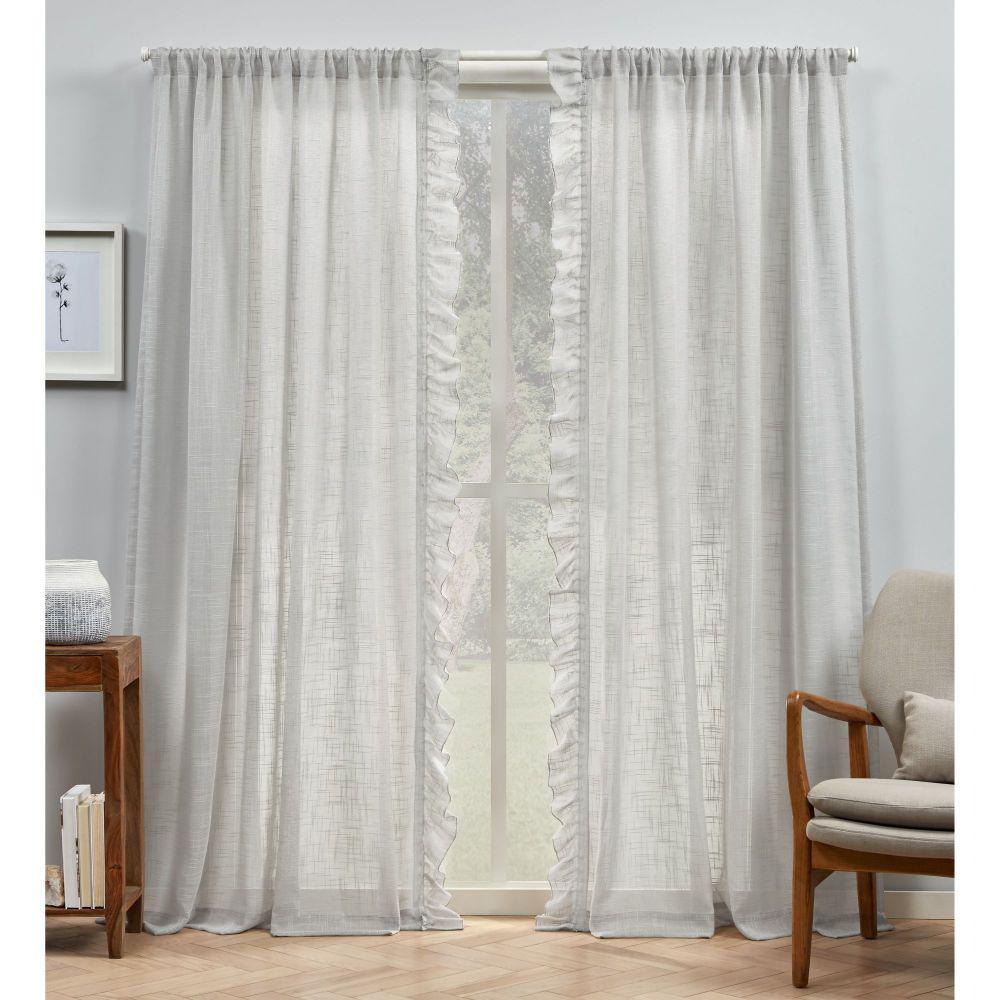 Sheer Rod Pocket Top Curtain Panel