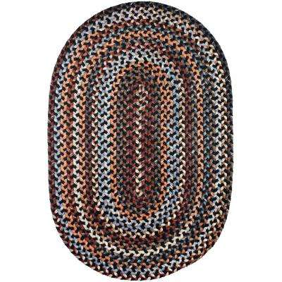 Annie Black Rock 5 Ft X 8 Oval Indoor Braided Area Rug