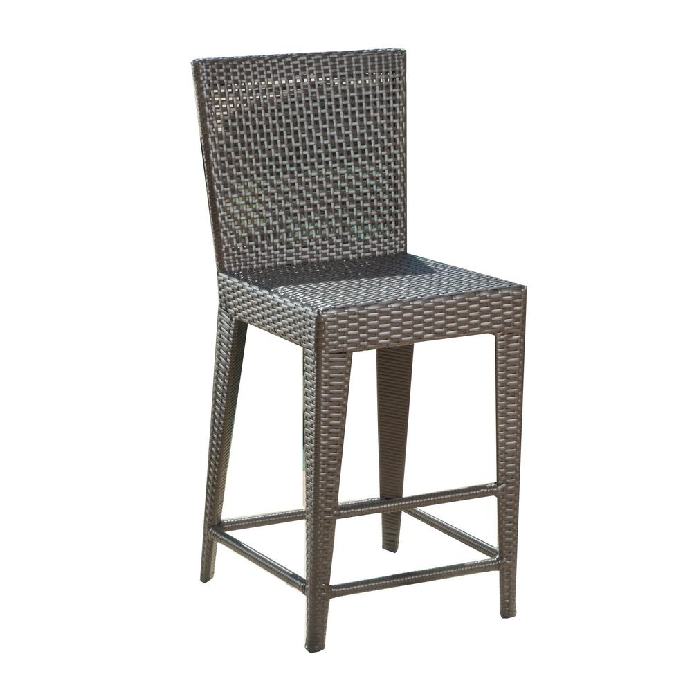 Noble House Pacific Wicker Outdoor Bar Stool 232060 The Home Depot