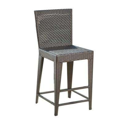 Pacific Wicker Outdoor Bar Stool