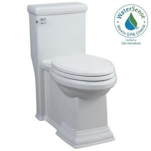 American Standard Town Square Tall Height 1-piece 1.28 GPF Single Flush Elongated Toilet in White by American Standard