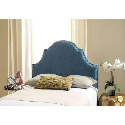 Hallmar Denim Blue Twin Headboard