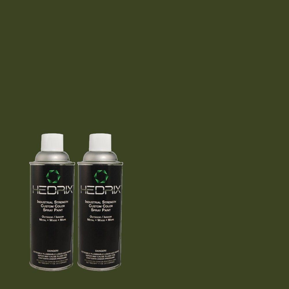 Hedrix 11 oz. Match of PEC-53 Williamstown Flat Custom Spray Paint (2-Pack)