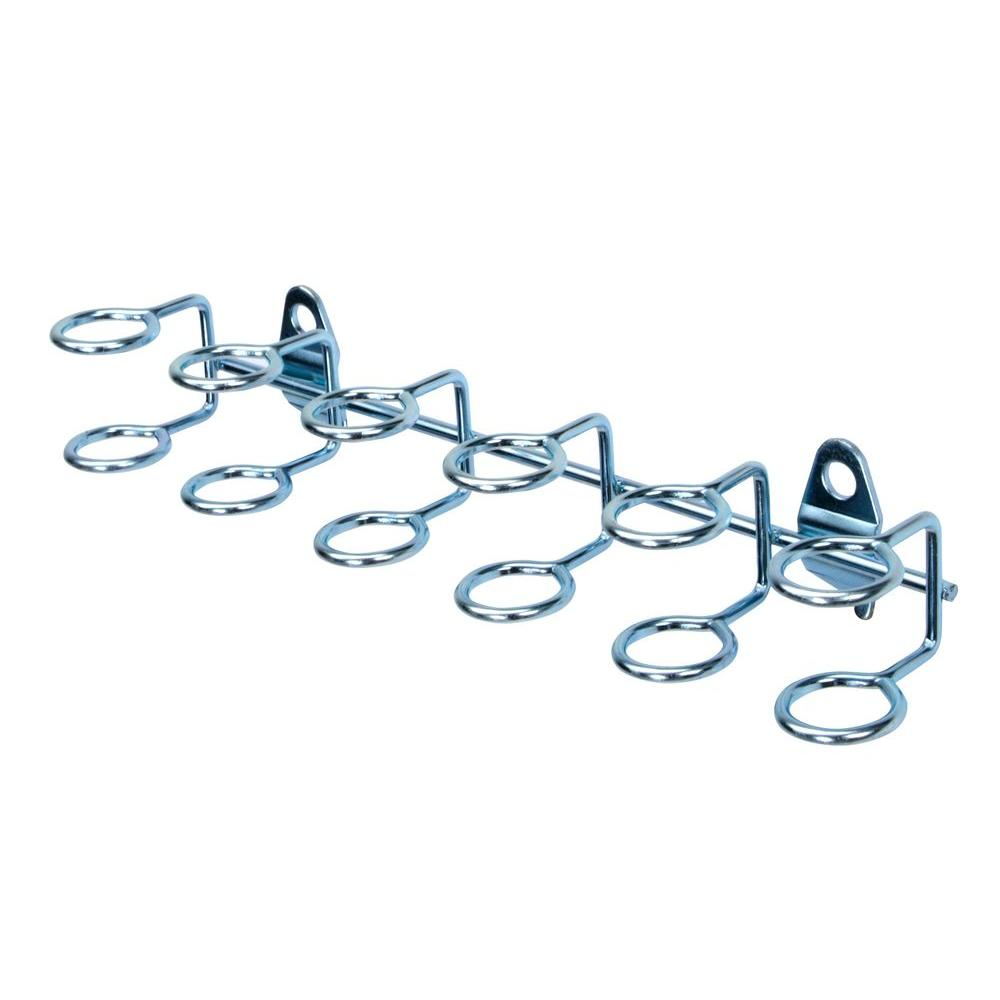 DuraHook 9 in. W with 3/4 in. I.D. Zinc Plated Steel Multi-Ring Tool Holder (2-Pack)