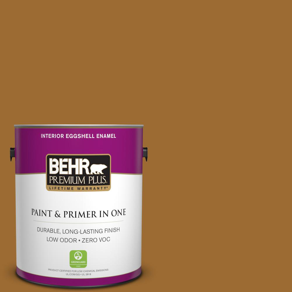 1 gal. #PPU6-01 Curry Powder Zero VOC Eggshell Enamel Interior Paint