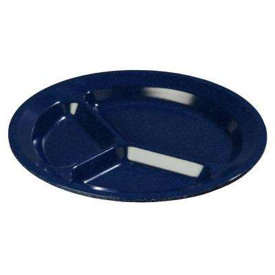 11.0 in. Diameter Melamine 3-Compartment Plate in Cafe Blue (Case of 48)