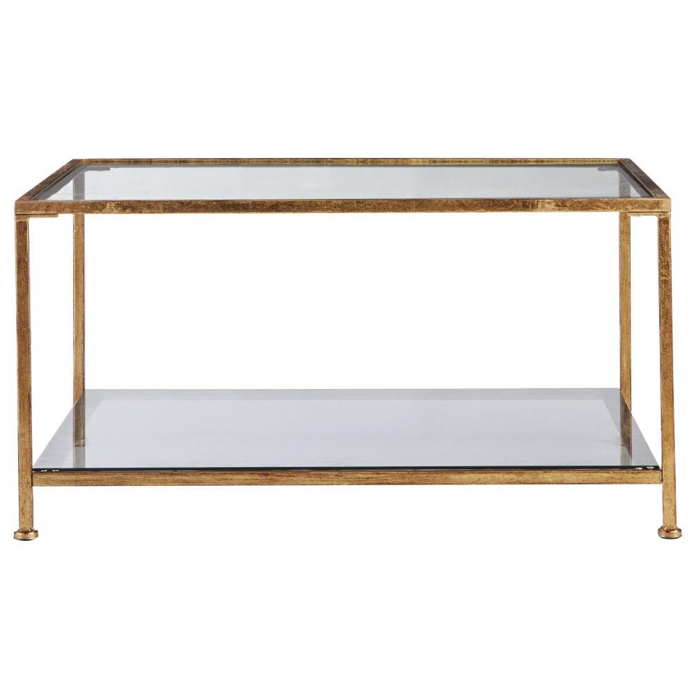 home decorators bella aged gold square glass coffee table. Black Bedroom Furniture Sets. Home Design Ideas