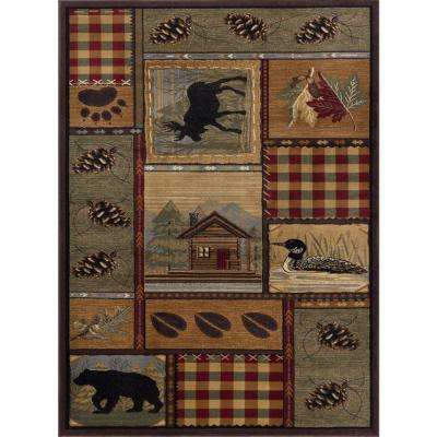 Nature Multi 3 ft. x 7 ft. Indoor Runner Rug