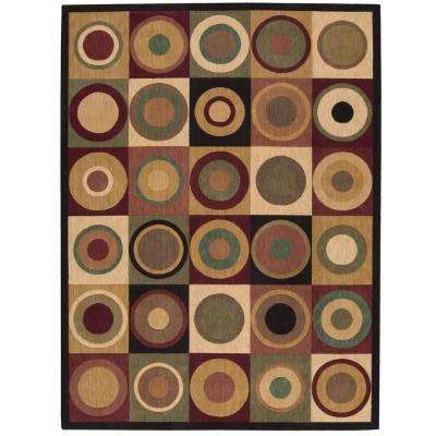 Parallels Multicolor 3 ft. 6 in. x 5 ft. 6 in. Area Rug