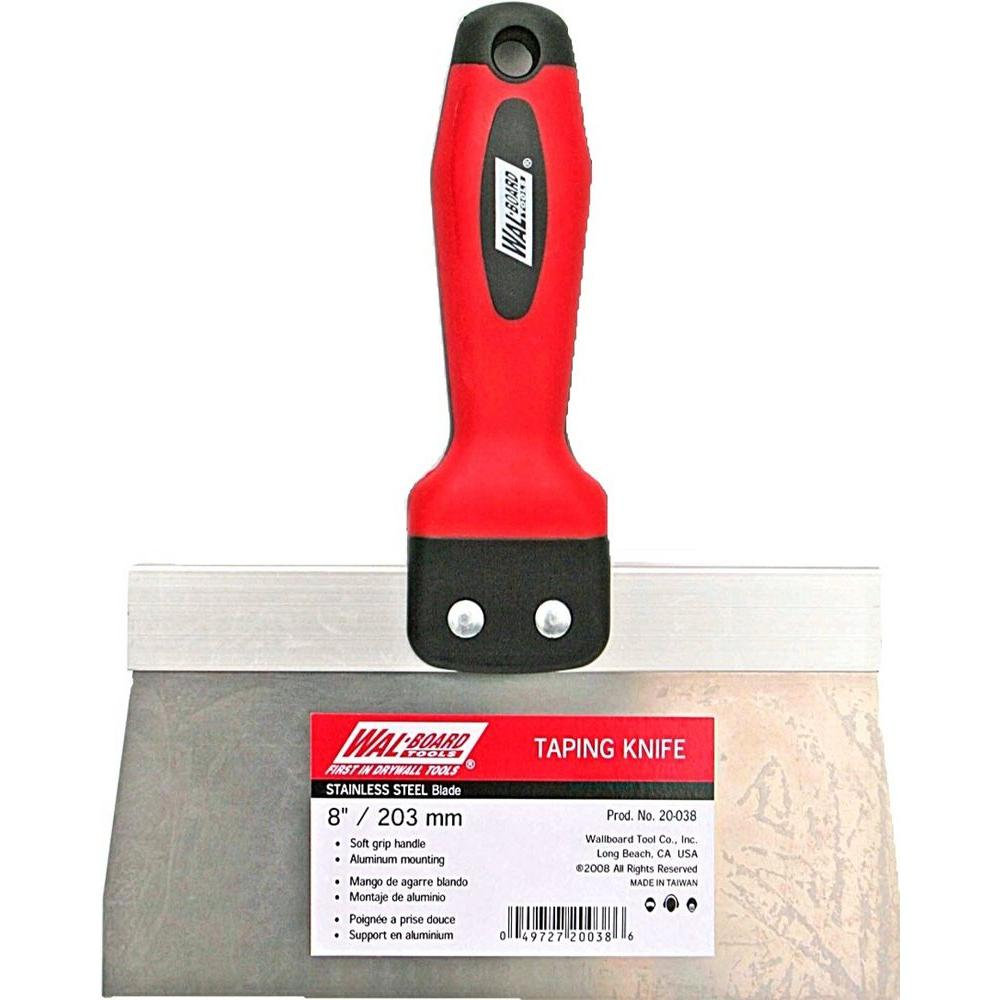 Wal-Board Tools 8 in. Stainless Steel Blade Taping Knife