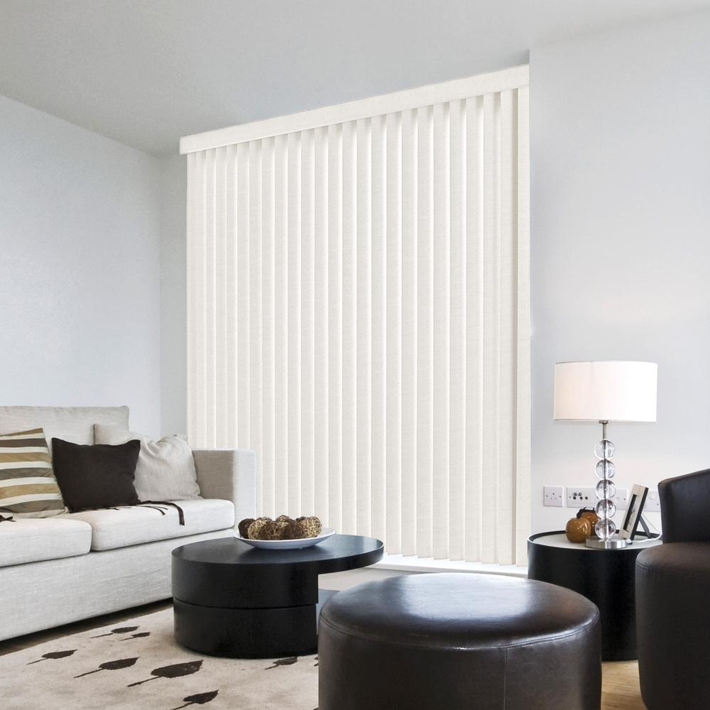 project source blinds 35 in 635 linen white vertical pvc blind 78 84