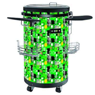 70-Bottle Single Zone 1.77 cu. ft. Refrigerated Party Cooler in Green
