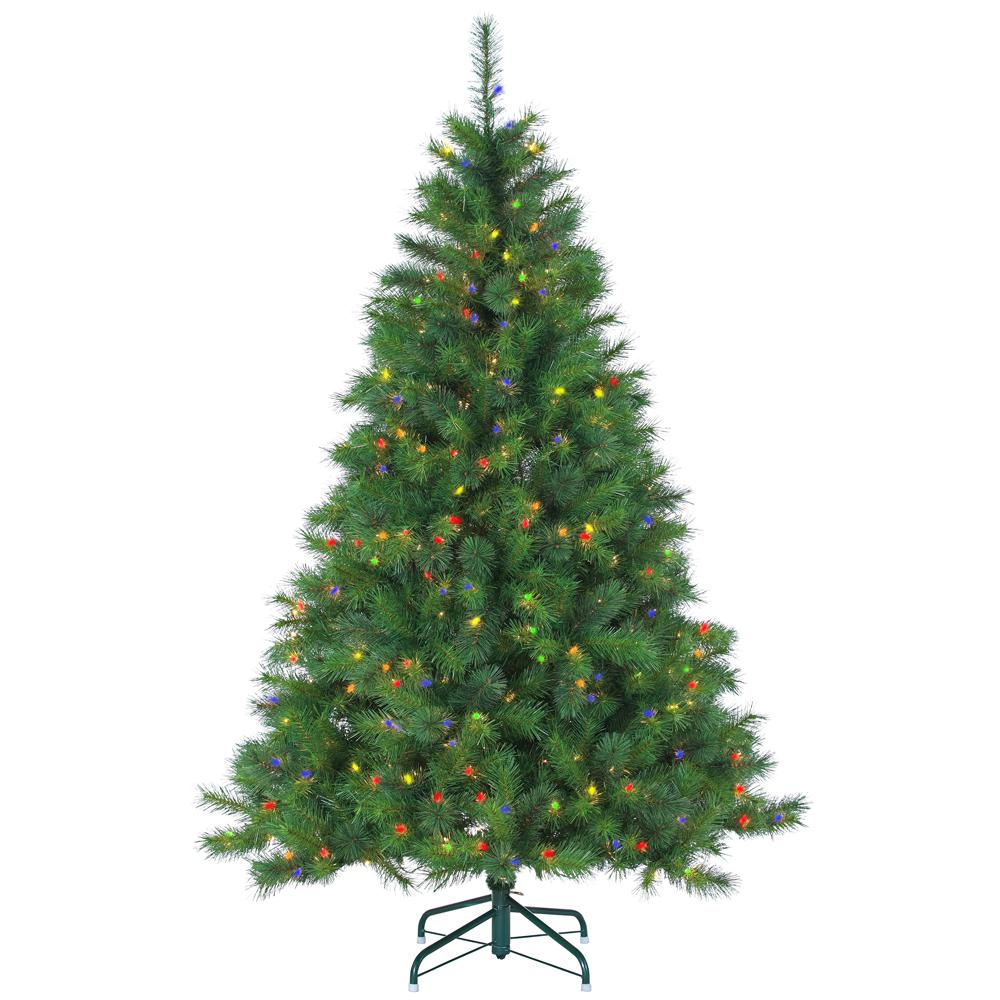 65 ft pre lit mixed needle wisconsin spruce artificial christmas tree - Pre Lit Christmas Trees