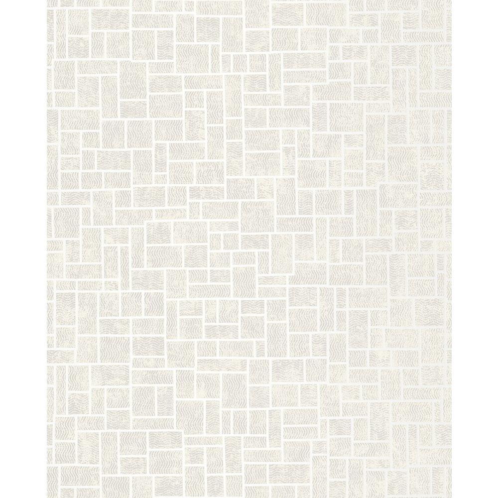 Brewster Etude Champagne Geometric Wallpaper, White