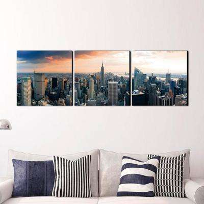 """16 in. x 48 in. """"Empire State City View"""" Printed Wall Art"""
