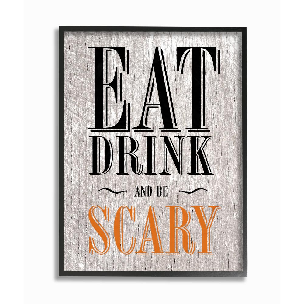 Eat Drink And Be Scary By Daphne Polselli Wood Framed Wall Art