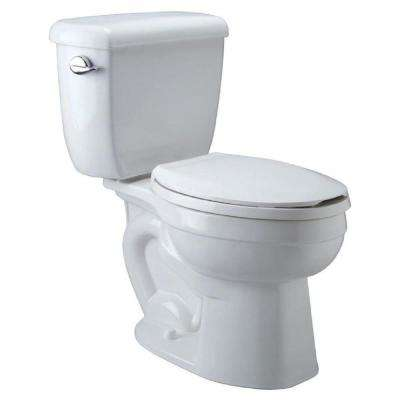 High Performance 2-piece 1.28 GPF Single Flush Elongated Toilet in White