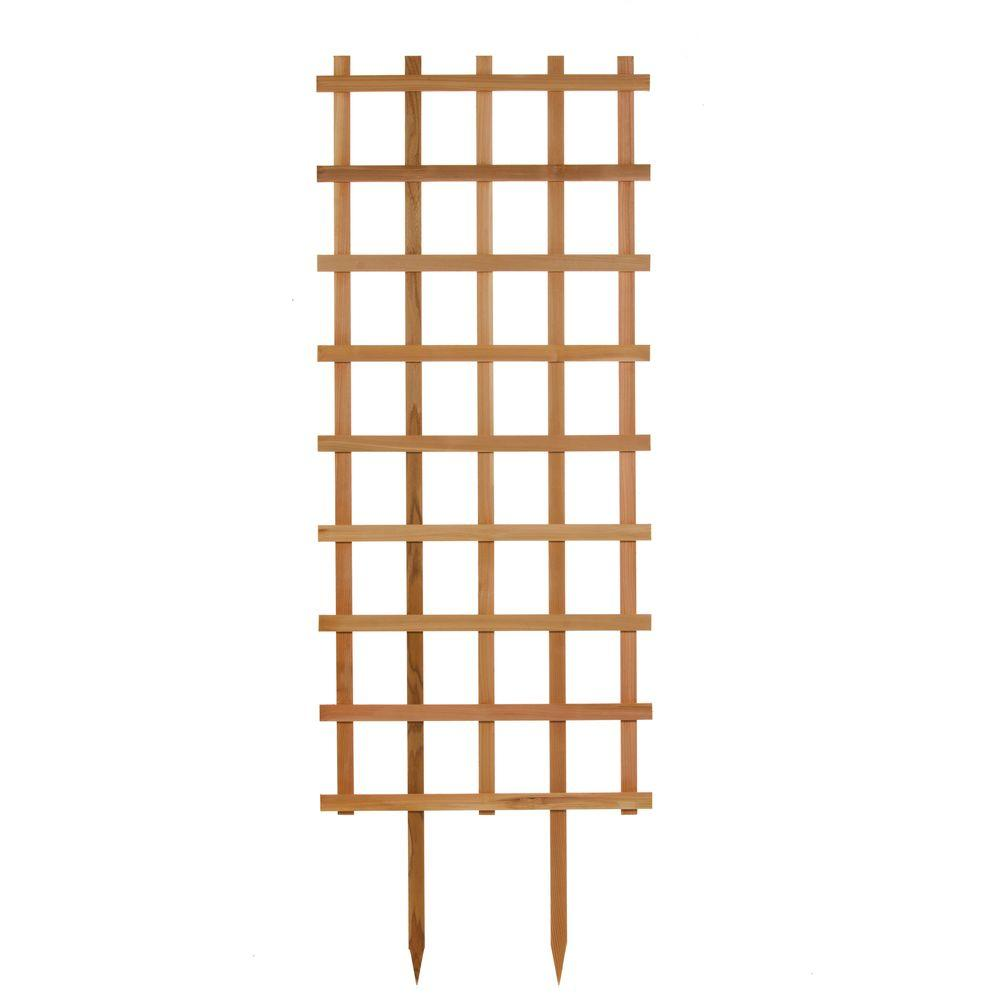 30 in. W x 84 in. H Wood Rectangle Trellis