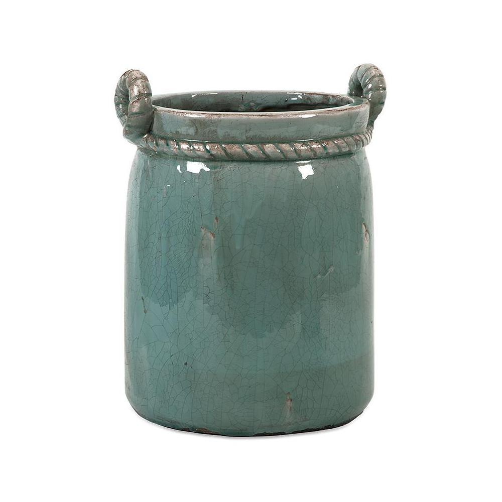 Marley Turquoise Ceramic Planter