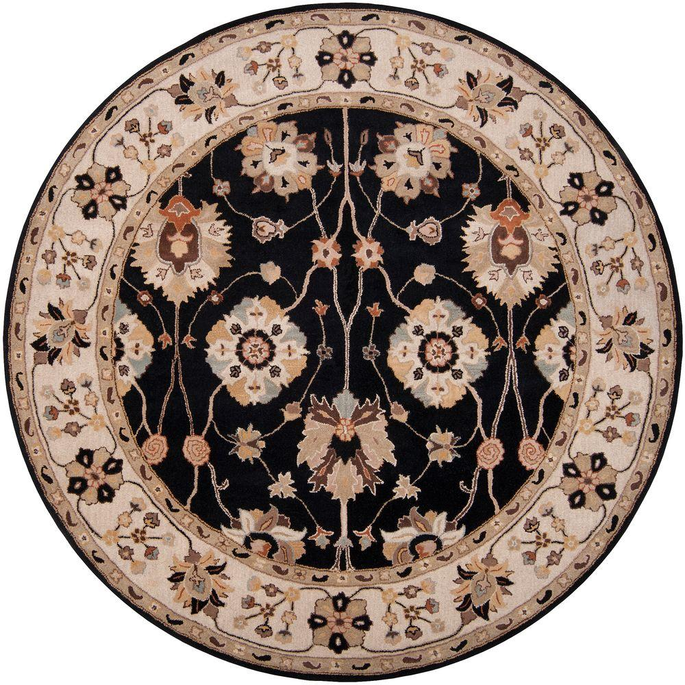 John Black 9 ft. 9 in. Round Area Rug