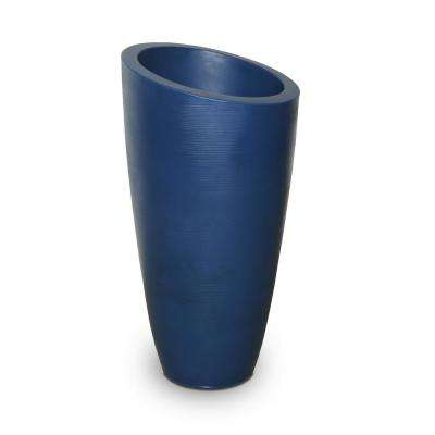Modesto 32 in. Neptune Blue Plastic Planter