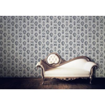 Debut Collection Bottoms Up in Mitchell Black Removable and Repositionable Wallpaper
