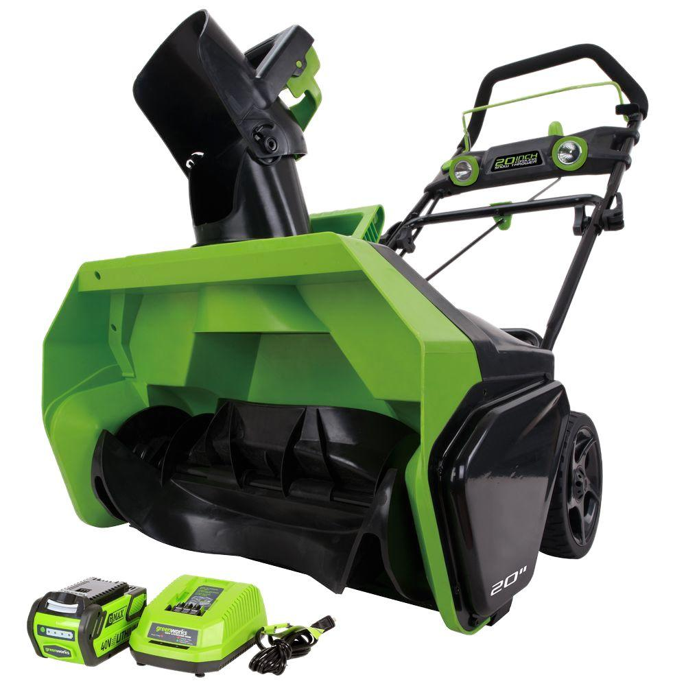 Digi-Pro Gmax 20 in. 40-Volt Cordless Electric Snow Blowe...