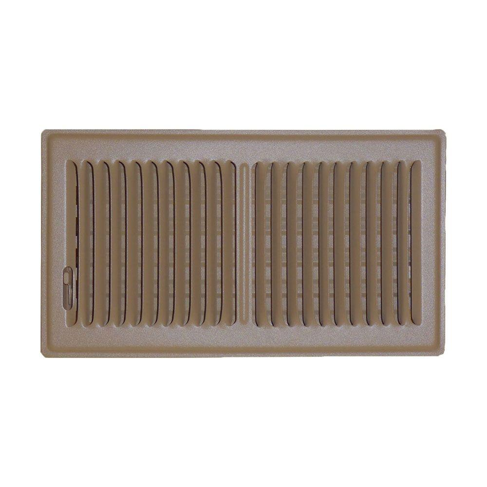 Sdi Grille 6 In X 12 Floor Vent Register Brown With