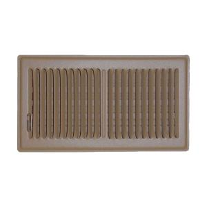 6 in. x 12 in. Floor Vent Register, Brown with 2-Way Deflection