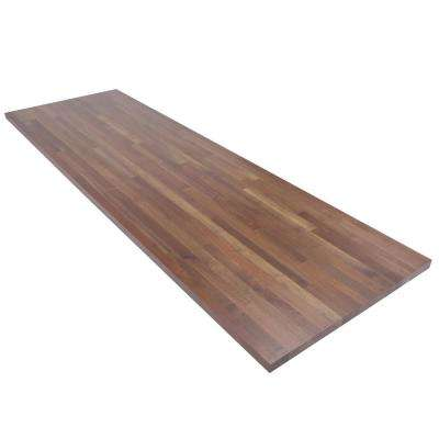 8 ft. L x 2 ft. 6 in. D x 1.5 in. T Butcher Block Countertop in Finished Walnut