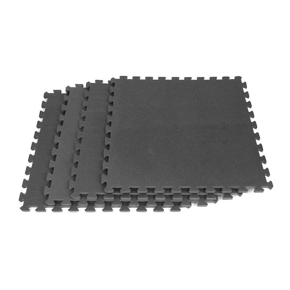 Stalwart Ultimate Comfort 24 In X 24 In Black Foam Garage Flooring