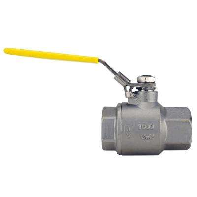 1 in. Stainless Steel FNPT x FNPT Full-Port Ball Valve With Latch Lock Lever