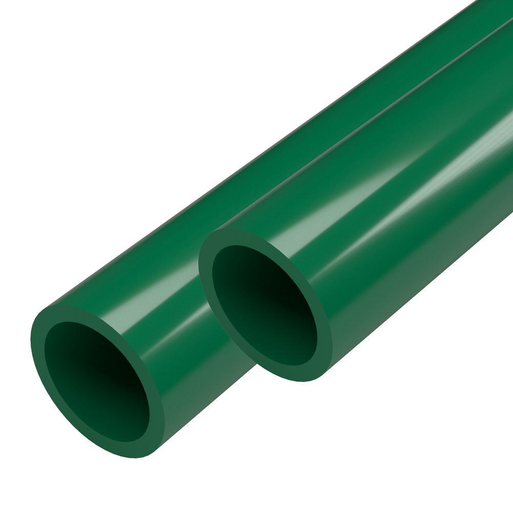 1 in. x 5 ft. Green Furniture Grade Schedule 40 PVC Pipe (2-Pack)