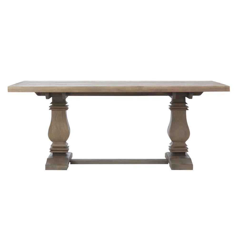 Home Decorators Collection Aldridge Antique Grey Rectangular Dining - Outdoor wood rectangular dining table