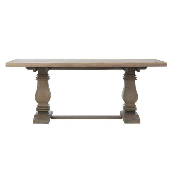 Home Decorators Collection Aldridge Antique Grey Rectangular Dining Table NB-063AG