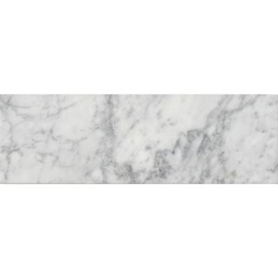 Arabescato Carrara 4 in. x 12 in. Honed Marble Floor and Wall Tile (5 sq. ft./case)