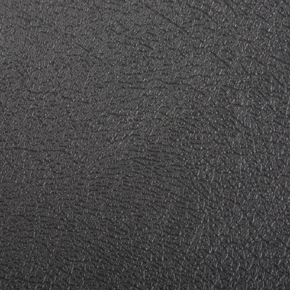 Hdx 10 ft wide textured black vinyl universal flooring for Black vinyl floor tiles