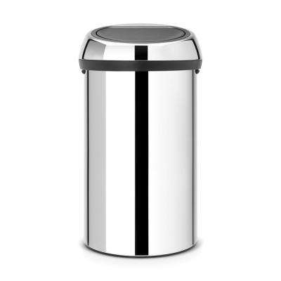 16 Gal. Brilliant Steel Touch Top Trash Can