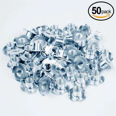 3/8-16 in. x 1/2 in. Pronged Tee Nut (50-Pack)