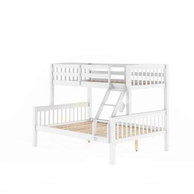 Dakota White Twin and Single Over Full and Double Bunk Bed
