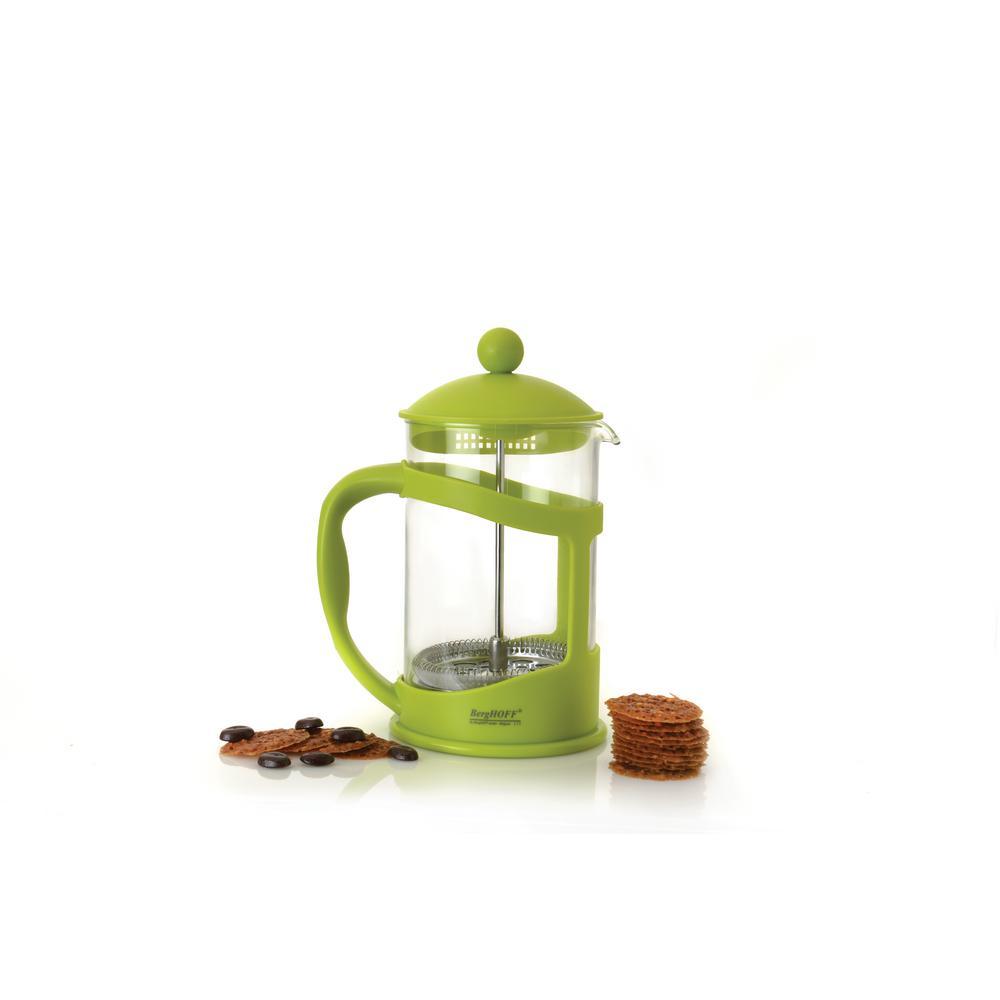 Studio 3.4-Cup Lime Borosilicate Glass Coffee and Tea Plunger