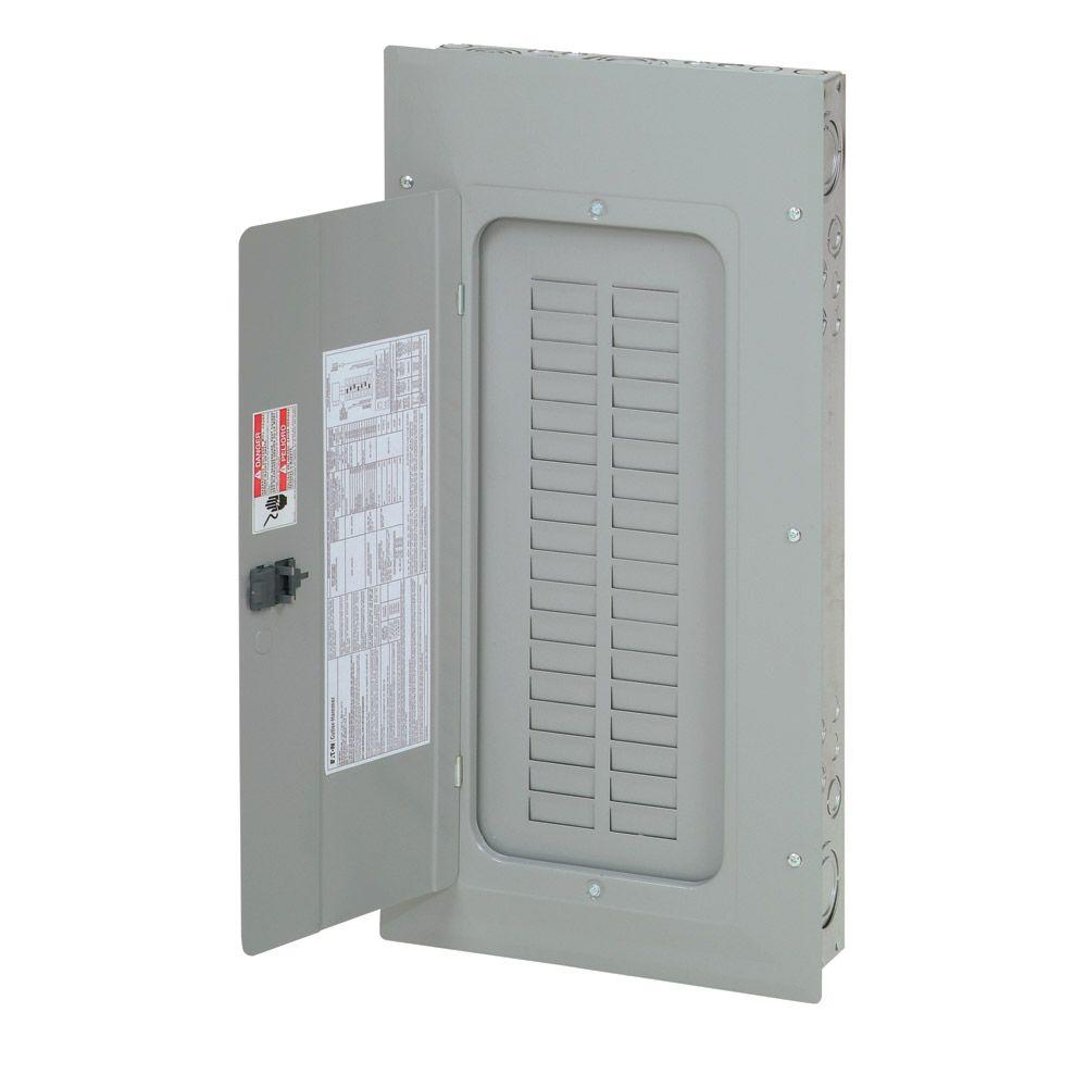 Eaton 100 Amp 30 Space Circuit Br Type 3 Phase Convertible Load Center 3br3030n100 The Home Depot